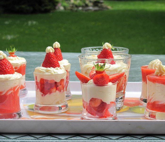verrine fraises été 2017