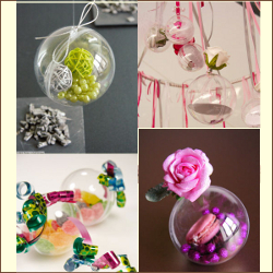 Boules transparentes pour amuse bouches originales mes verrines le blog - Decoration boule plastique transparente ...