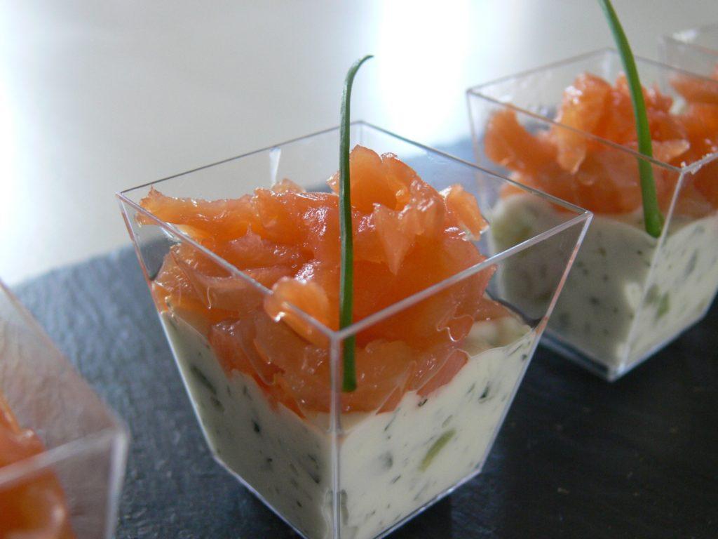 verrine saumon tzatziki